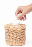 Craft weave tissue paper box Royalty Free Stock Photography
