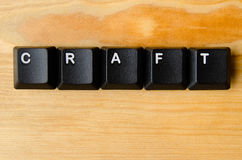 Craft word. With keyboard buttons royalty free stock photography