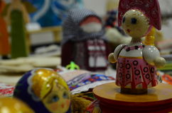 Crafted doll. Crafted russian doll in museam stock image