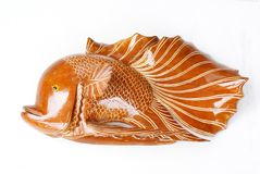 Crafted fish, handmade, wooden Stock Photography