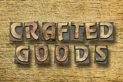 Crafted goods wooden Stock Photography