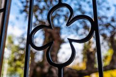 Ornamental forged steel, forged elements close-up. royalty free stock photos