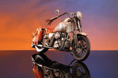 Crafted miniature motorcycle Royalty Free Stock Images