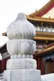 Crafted Pillar in Forbidden City of China Royalty Free Stock Photography