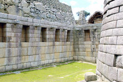 Crafted stonework at Machu Picchu, Peru Stock Photo