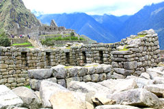 Crafted stonework at Machu Picchu, Peru Stock Image