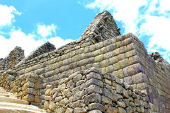 crafted stonework at Machu Picchu, Peru Royalty Free Stock Photography