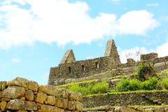 Crafted stonework at Machu Picchu, Peru Royalty Free Stock Photos