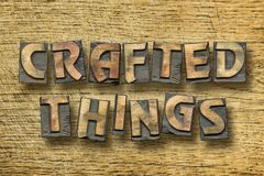 Crafted things wooden Stock Image