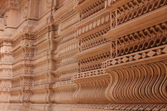 Crafted walls - India. Wooden door crafting has a big market in India with traditional door handle and pullers it looks royal. the traditional crafted walls royalty free stock images