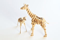 Crafted wooden animal toys Royalty Free Stock Image