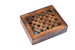 Crafted wooden box Stock Images
