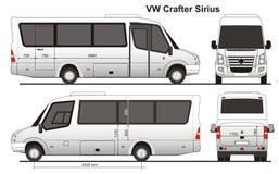 Crafter Sirius VW Стоковые Изображения RF