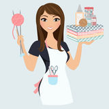 Crafter woman Royalty Free Stock Photography