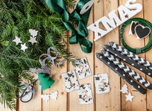 Crafting and Advent garland Royalty Free Stock Photos