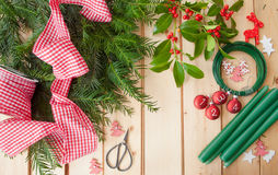 Crafting and Advent garland Stock Images