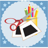Crafting art supplies Stock Images