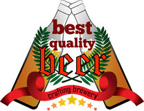Crafting beer quality mark Stock Photography