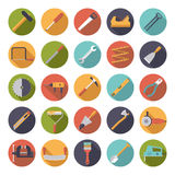 Crafting a coleção lisa dos ícones do vetor do projeto das ferramentas ilustração royalty free