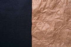 Crafting crumpled paper on black background concrete Stock Photography