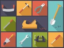 Crafting a ilustração do vetor dos ícones das ferramentas Foto de Stock Royalty Free