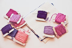 Crafting and sewing Royalty Free Stock Images