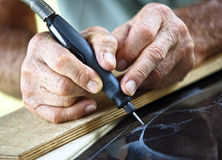 Craftman en el trabajo Imagen de archivo