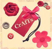 Crafts. Cute scrapbook and crafts illustration vector illustration