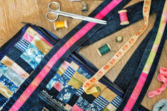 Crafts: bag, made in the style of Royalty Free Stock Photography