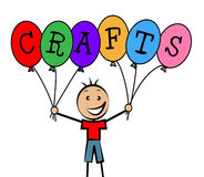 Crafts Balloons Indicates Bunch Male And Designing Stock Images