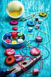 Crafts with beads Stock Photography