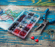 Crafts with beads Royalty Free Stock Image