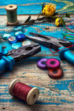 Crafts with beads Stock Photos