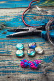 Crafts with beads Royalty Free Stock Photography