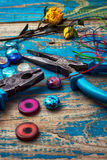 Crafts with beads Royalty Free Stock Photo