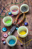 Crafts with beads Stock Images