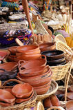 Crafts in clay. Sale of crafts in clay, in the traditional market of Chillan, Chile Stock Photos