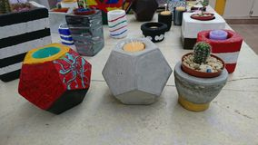 Crafts in concrete. royalty free stock photos
