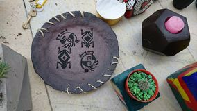 Crafts in concrete. stock images