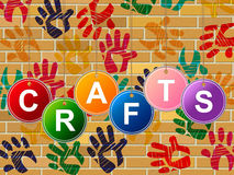 Crafts Craft Indicates Artistic Artist And Draw Stock Photography