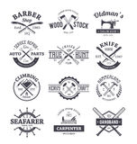 Crafts Emblems Vector Set Stock Image