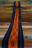 Crafts. Hand woven textile strips. Taman Nusa cultural park in Bali. Indonesia Stock Photography