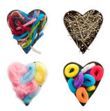 Crafts heart Royalty Free Stock Photo