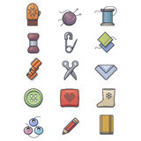 Crafts icons set Royalty Free Stock Image