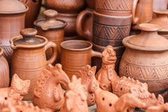 Crafts made of clay Stock Photos