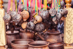 Crafts made of clay Royalty Free Stock Photos