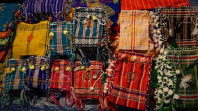 Crafts,Many colorful of small Shoulder Bag. Stock Image