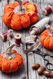 Crafts with pumpkins Stock Image