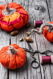 Crafts with pumpkins Royalty Free Stock Photo