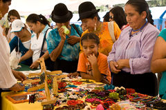 Crafts for sale at Ecuador Fiesta Royalty Free Stock Images